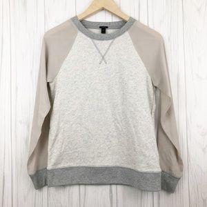 J. Crew Sheer Sleeve Sweatshirt
